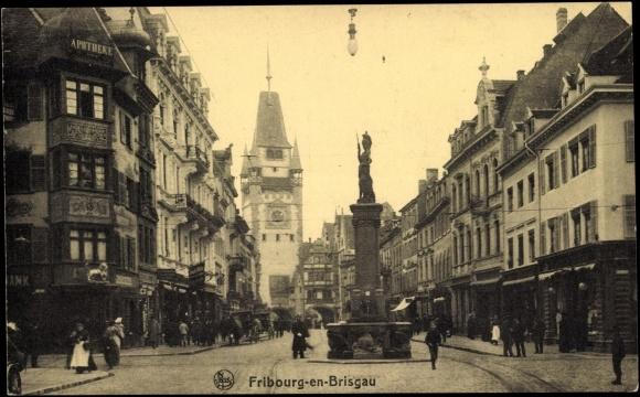 Bertoldsbrunnen_um_1910