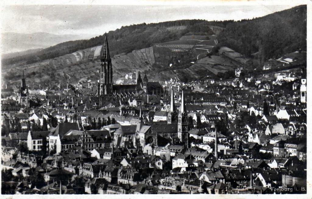 Blick über Freiburg 1920-1930