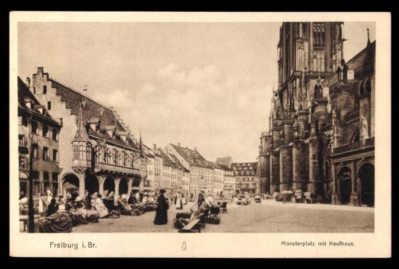 Münsterplatz um die Jahrhundertwende