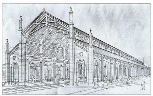 Freiburger Bahnhalle_um_1840
