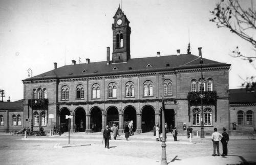 Freiburg Bahnhof 1890