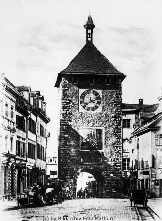 Das Freiburger Martinstor vor 1901