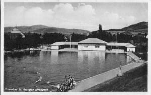 Freibad in Freiburg-St.Georgen um 1930