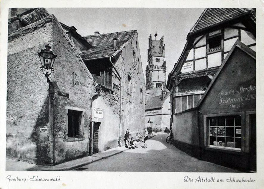 Freiburger Altstadt beim Schwabentor