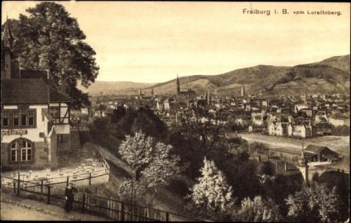 Blick vom Lorettoberg 1913