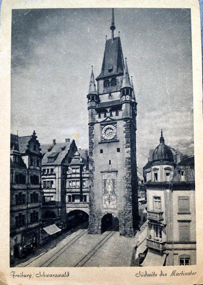 Südseite Martinstor Freiburg 1930