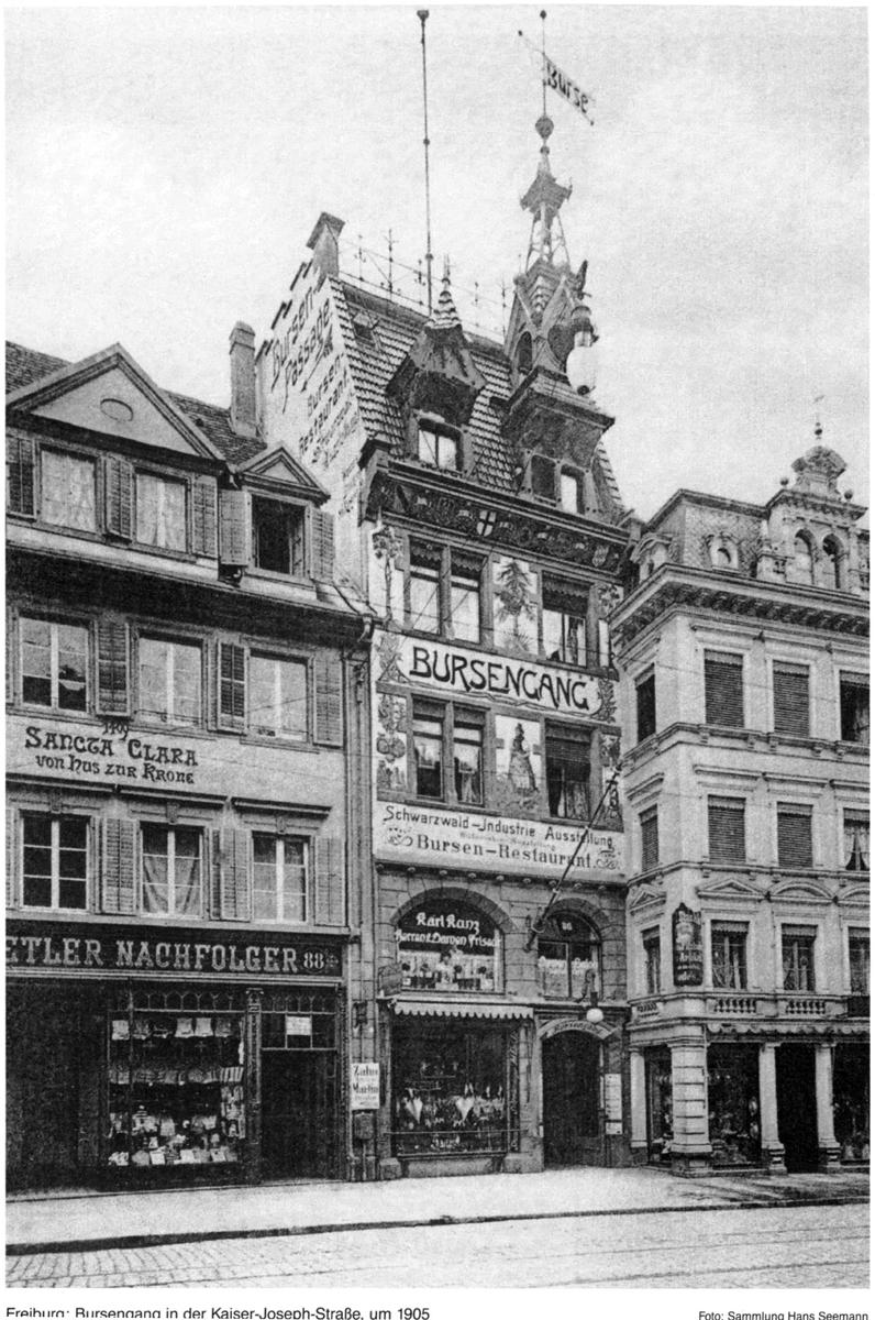 Bursengang Freiburg 1905