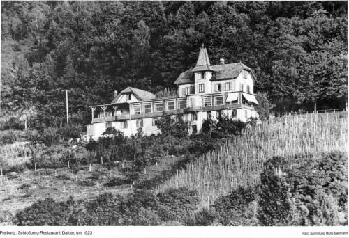 Schloßberg-Restaurant Dattler Freiburg 1923