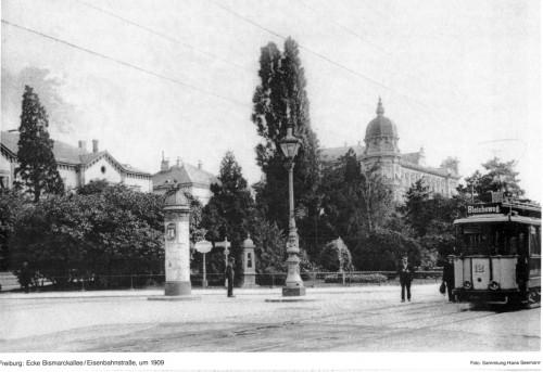 Ecke Eisenbahnstraße und Bismarckallee Freiburg