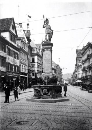 Bertoldsbrunnen Freiburg um 1910