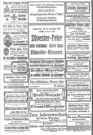 Sylvesterwünsche 1914