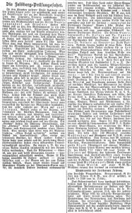 Bericht der Freiburger Zeitung über die erste Feldberg-Prüfungsfahrt vom 23.06.1924