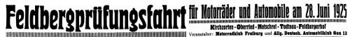 Anzeige in der Freiburger Zeitung vom 28.06.1925