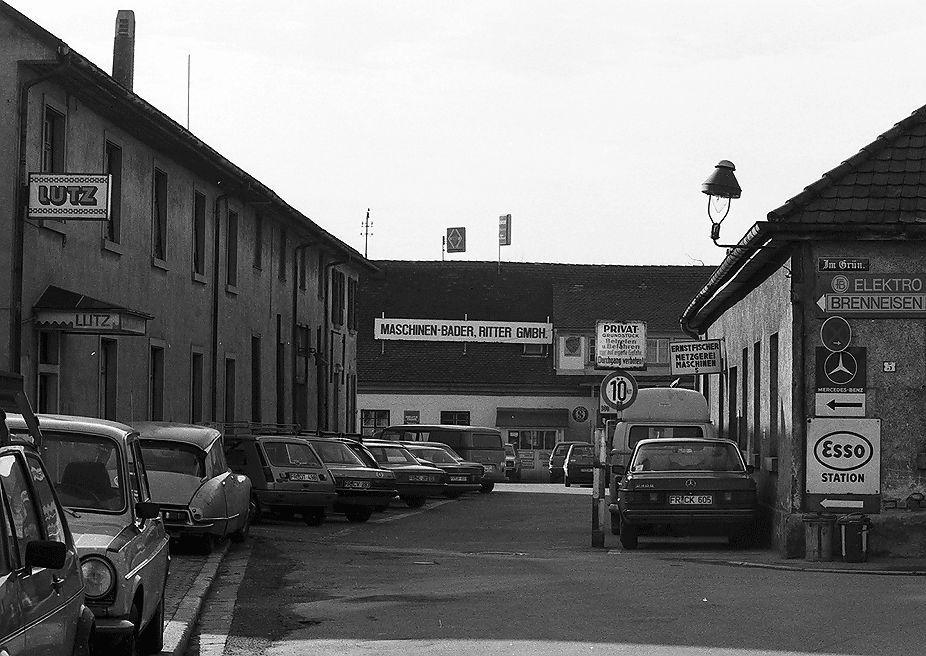 Abbildung der Straße Im Grün Freiburg von 1982