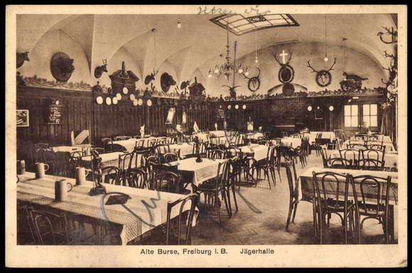 Alte Burse Freiburg Innenansicht 1920er