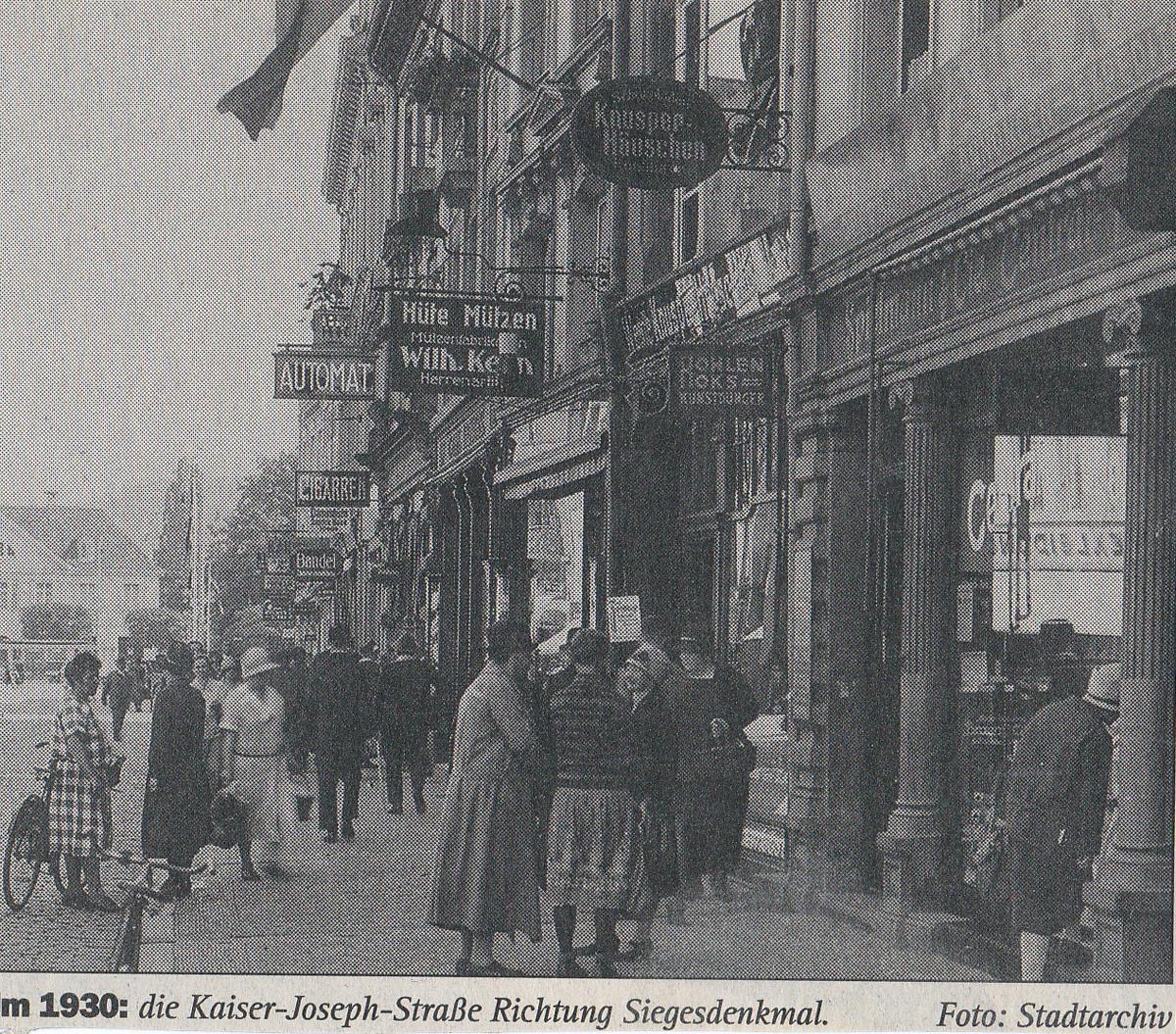 Kaiserstraße Freiburg um 1930