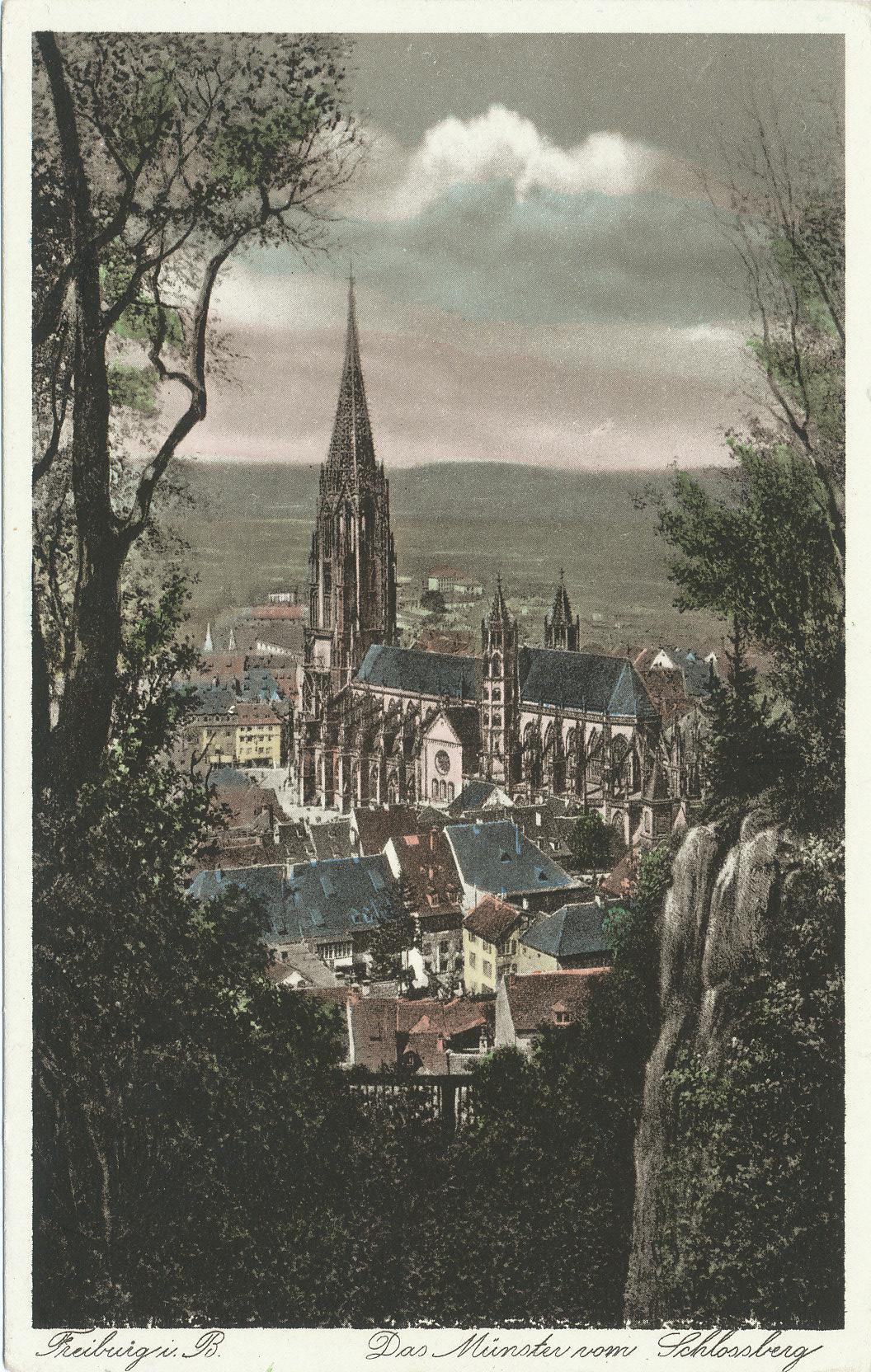 Freiburger Münster vom Schlossberg