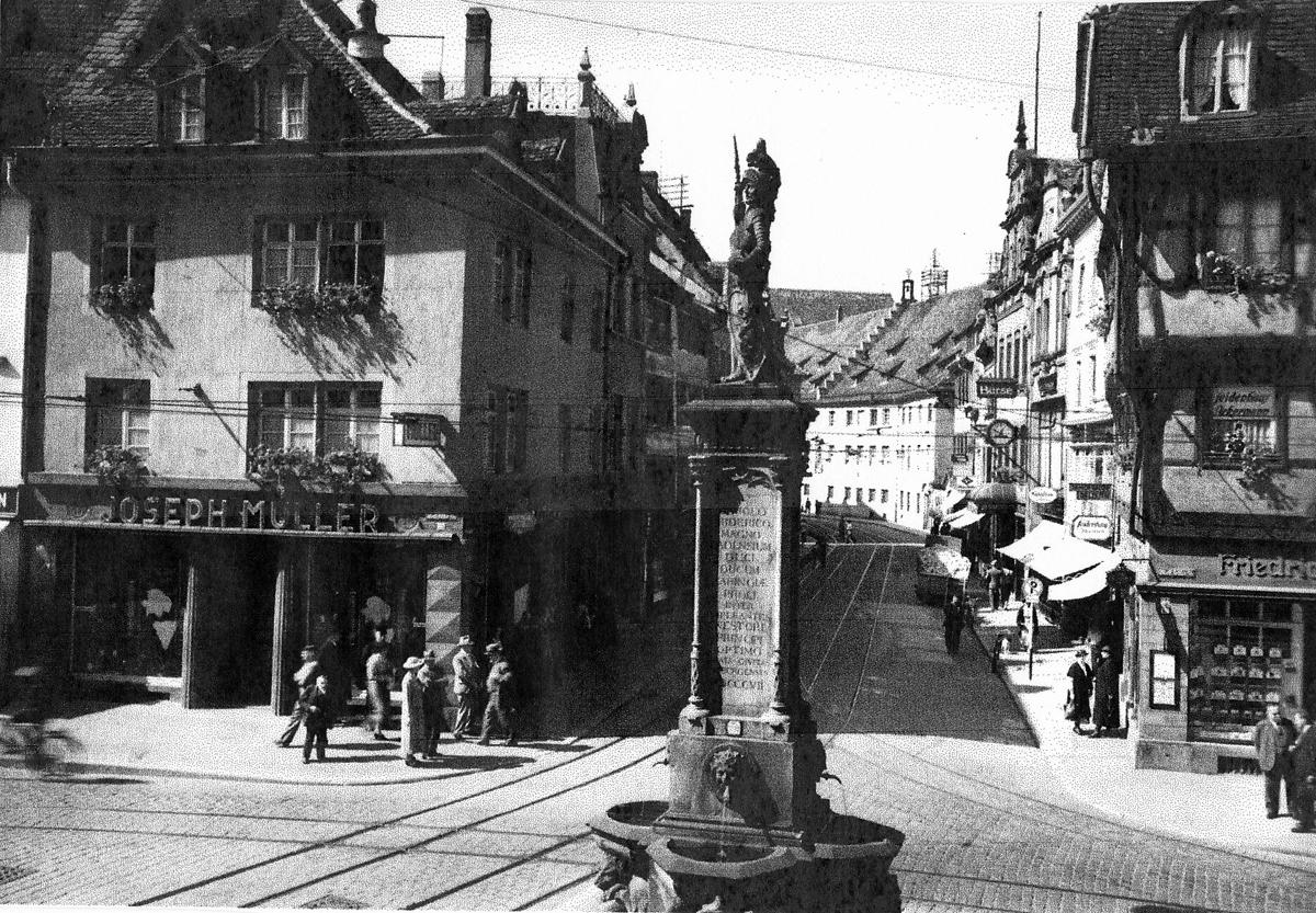 Joseph Müller-Herrenbekleidung Freiburg um 1920