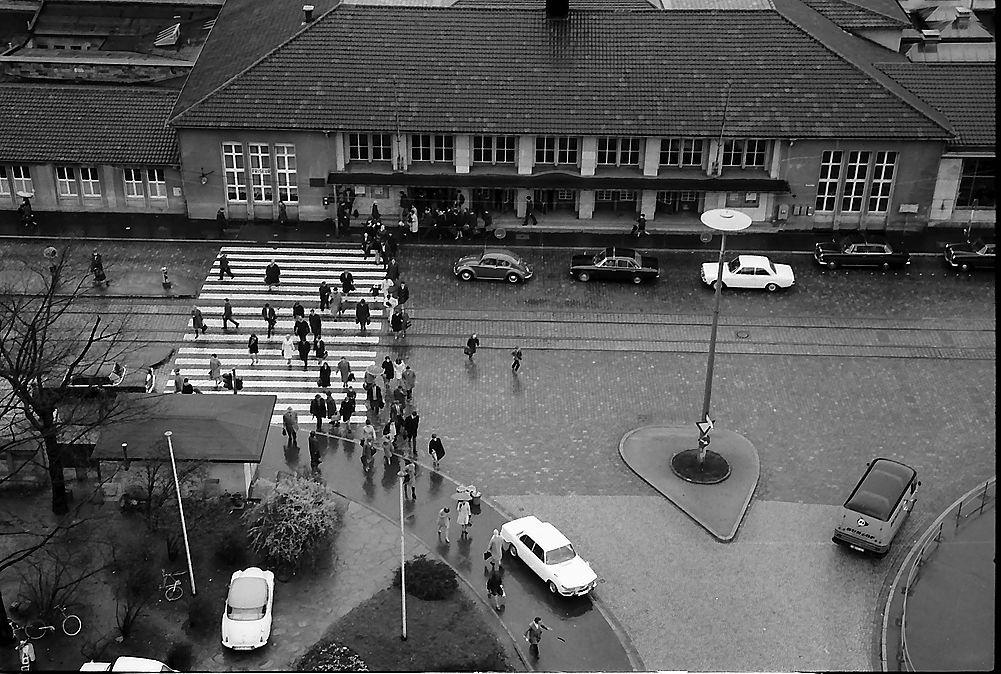 Hauptbahnhof Freiburg 1968 Historisches Freiburg