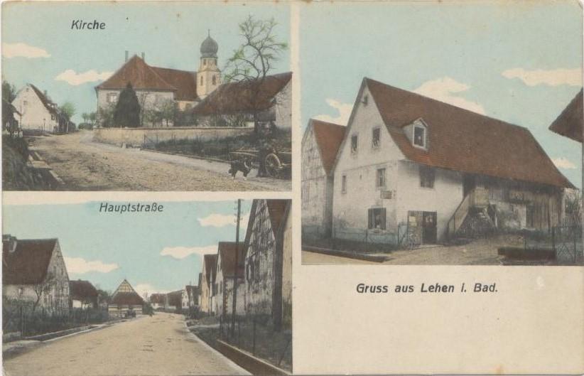 Freiburg-Lehen historische Ansicht