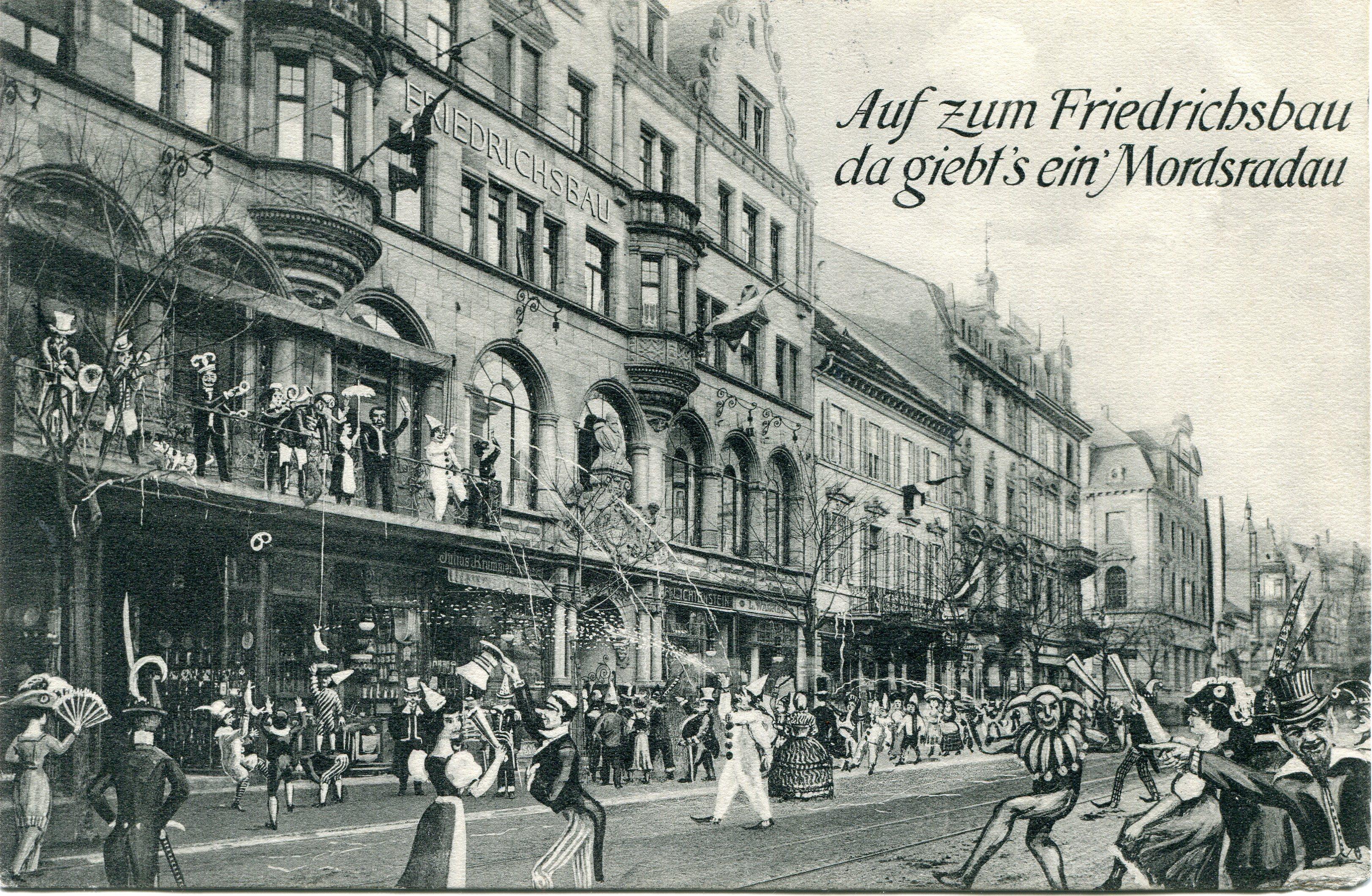 Fasnet am Friedrichsbau Freiburg