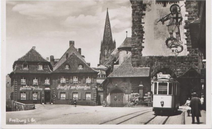 Schwabentor Gasthof Storchen Freiburg