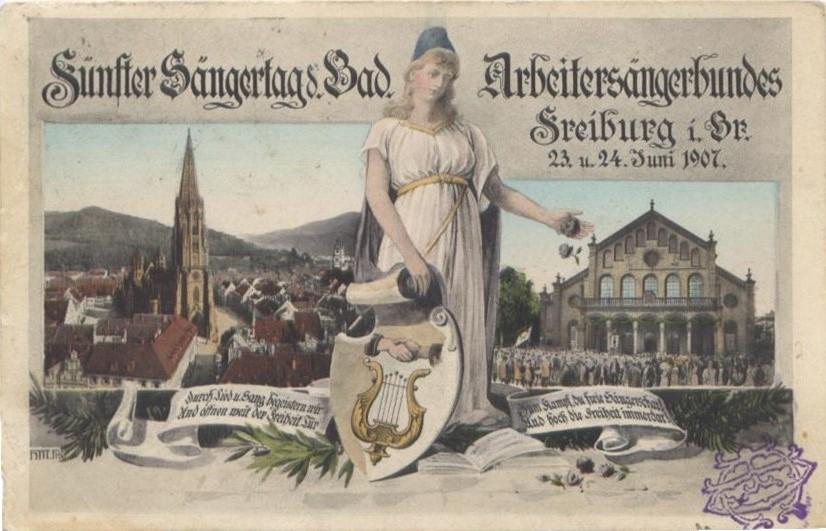 fünfter Sängertag Freiburg 1907